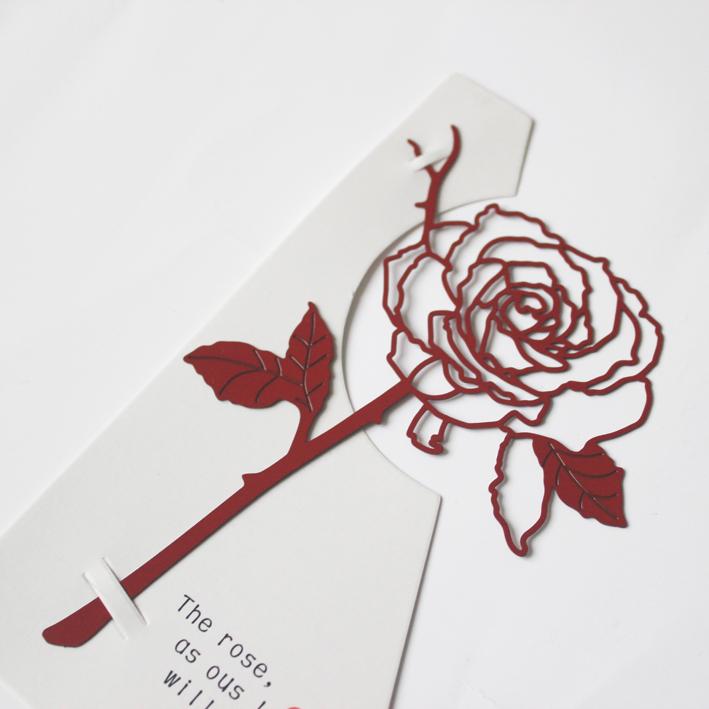 【玫瑰花】定制刻字礼物金属创意小清新学生用生日礼品diy书签