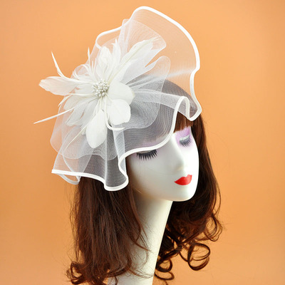 Feather Flowers Headdress Exaggeration Wedding hat