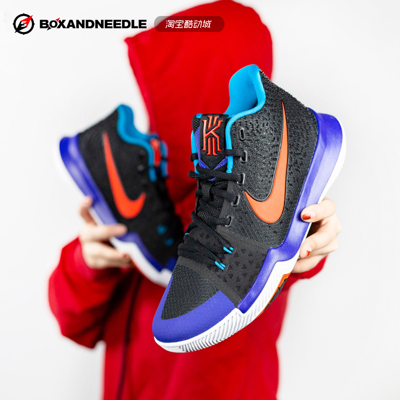 a38007b9fef9 NIKE KYRIE 3 Irving 3rd Generation Christmas Red Black Samurai Basketball  Shoes Male 852396 852395-007