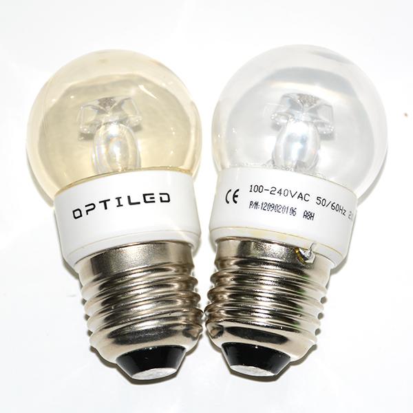 奥的亮LED美国科瑞灯珠透明超亮e27螺口彩色小灯泡装饰红绿蓝氛围
