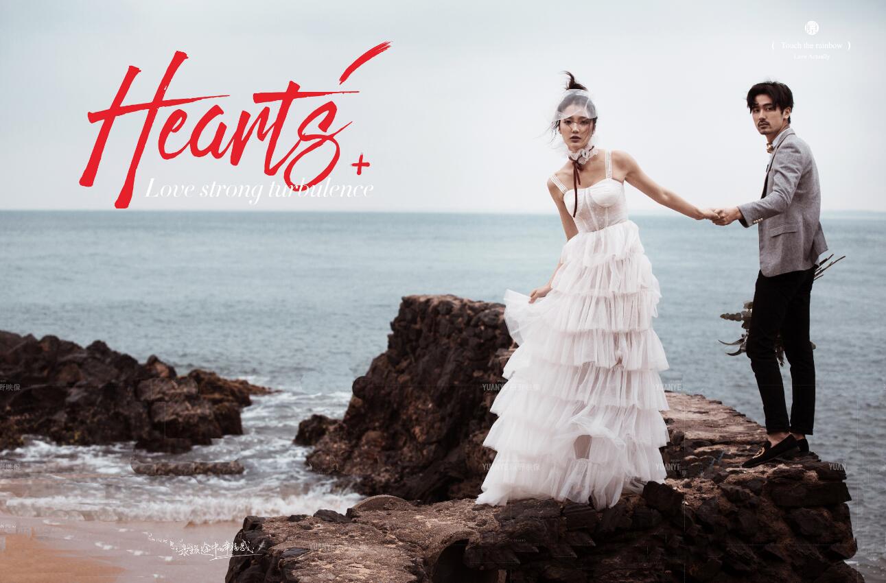 2018新款影楼吊带轻婚纱 外景海边旅拍礼服 情侣主题写真摄影服装