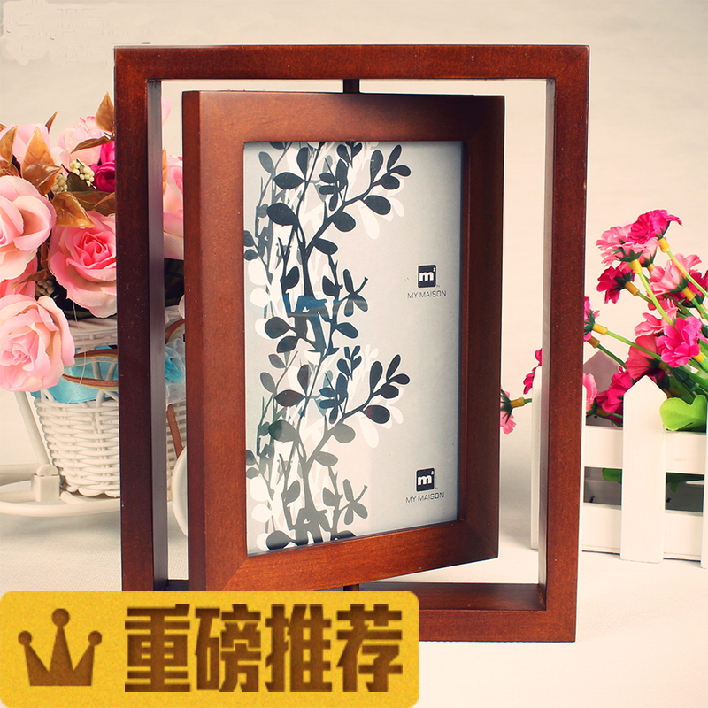 Usd 1403 Double Sided Vertical Solid Wood Rotating Frame 6 Inch 7