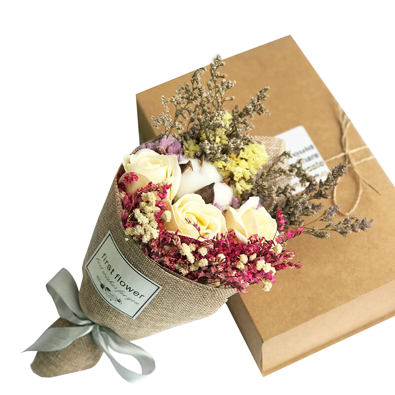 Dried flowers, starry, kapok, forget-me-not, rose, soap, bouquet ...