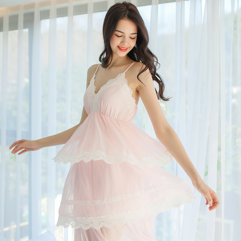 948f5af23f Dust Hee pajamas women summer casual suspenders home service summer net  yarn Princess retro style sweet. Zoom · lightbox moreview · lightbox  moreview ...