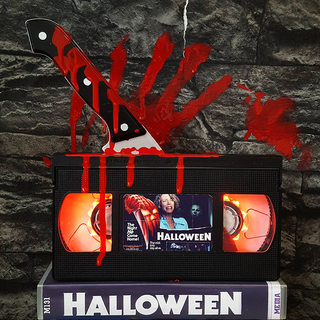 Halloween night night light vintage retro nostalgic movie video tape light creative led desk lamp birthday gift