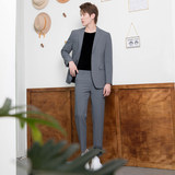 CSO Spring and Autumn Men's Light Gray Small Suit Suit Trend Casual Korean Style Handsome Slim Fashion Suit Formal Wear