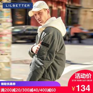 Lilbetter棉衣男 外套短款修身棒球服冬季上衣夹克棉袄男士棉服潮