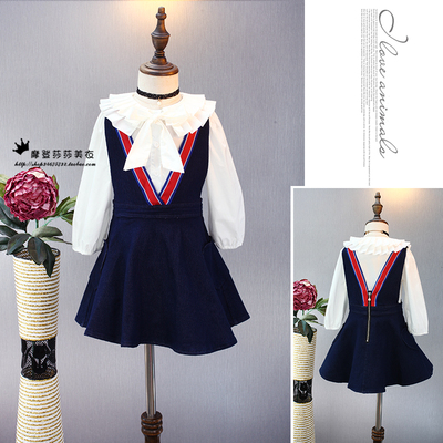 Autumn end of the year special children 's clothing children' s strap straps cowgirl suspenders College skirt vest skirt
