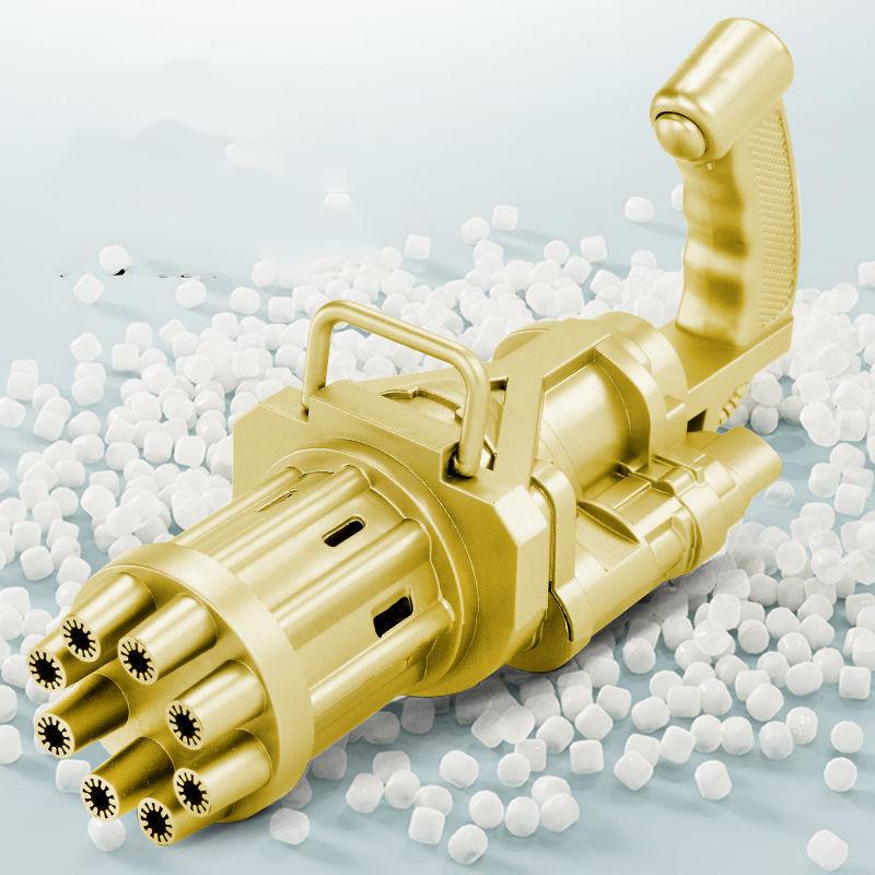 s加特林八孔泡泡枪儿童电动玩具全自动吹泡泡机