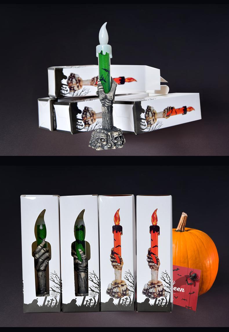 Cosplay服裝 萬聖節 裝飾用品道具恐怖鬼屋鬼節產品LED電子發光鬼手骷髏蠟燭燈 表演服