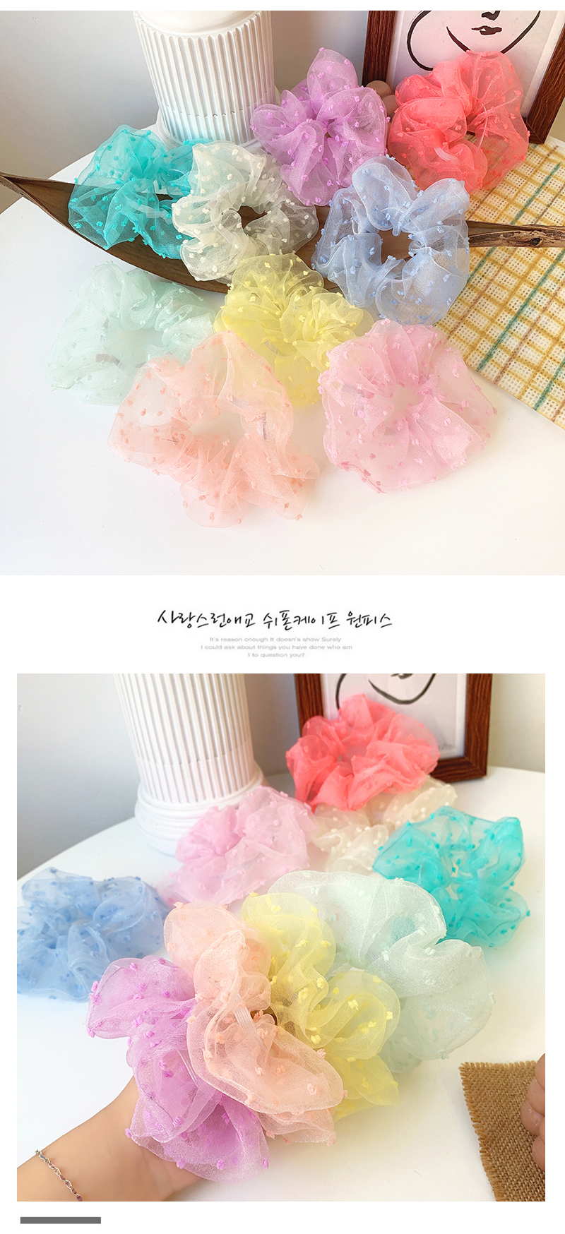 New fashion solid color cheap scrunchies wholesale NHOF211387