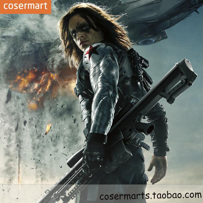 Captain America 3 Civil War Winter Soldier arm cos Barnes Winter Soldier  armor arm cos dress props