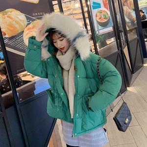 羽絨棉服女2019新款潮冬季短款面包服大毛領寬松加厚棉衣棉襖外套