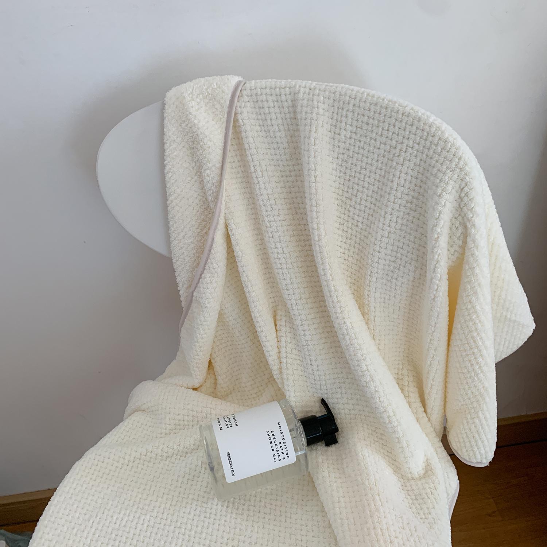 馨帮帮 菠萝格毛巾浴巾裹巾 可穿可裹浴巾家用纯棉吸水速干不掉毛