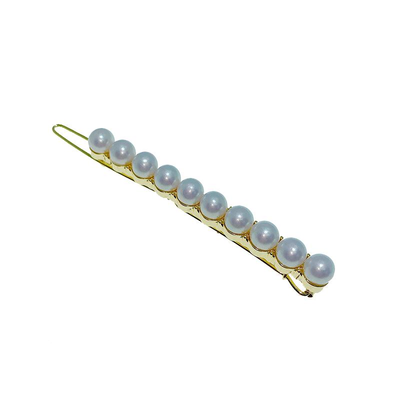 金色珍珠一字边夹批发价格3.90元,批发,义乌,市场,进货,货源,批发网,批发市场