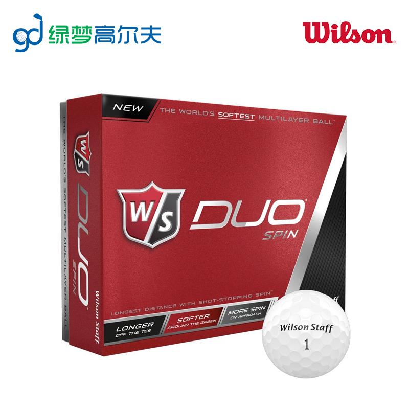 WILSON гольф мяч DUO три мяч конкуренция мяч 12 зерна белый мяч клиенты сделанный на заказ LOGO далеко расстояние