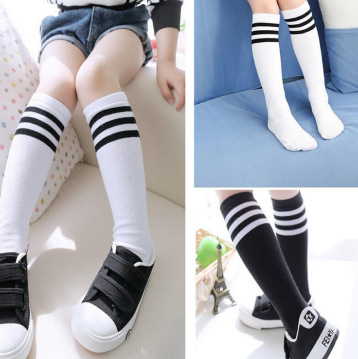 Usd 1144 Boys Korean Version Of The Black And White Striped Socks