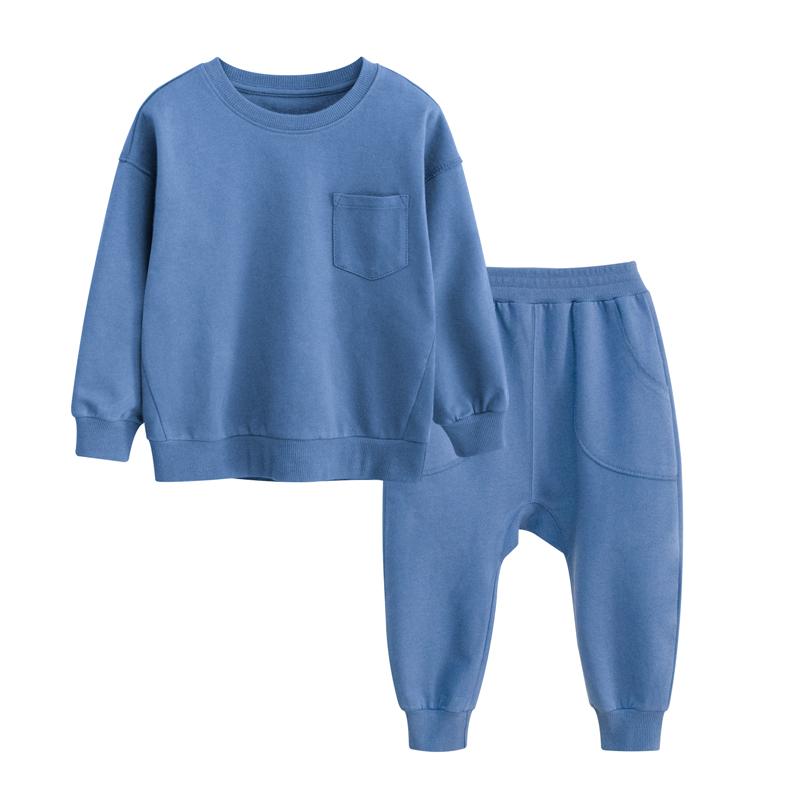 儿童套装纯棉春装2021春秋新款童装家居服中宝宝件套卫衣两小童
