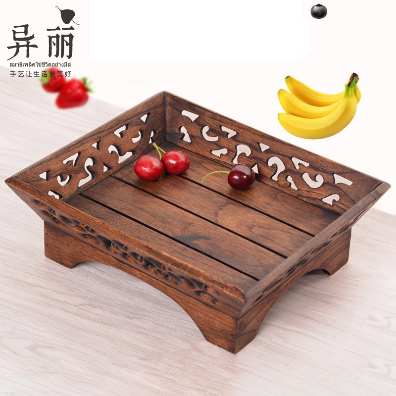 Usd 49 24 Thai Creative Solid Wood Fruit Plate Home Living Room