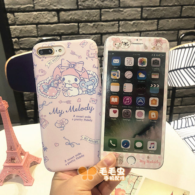 Suitable for Apple 6S Melody tempered film color film iphone11 mobile phone case 7/8 plus film shell XS max