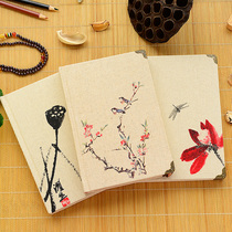 Chinese style ink painting linen notebook retro business hard noodles Diary