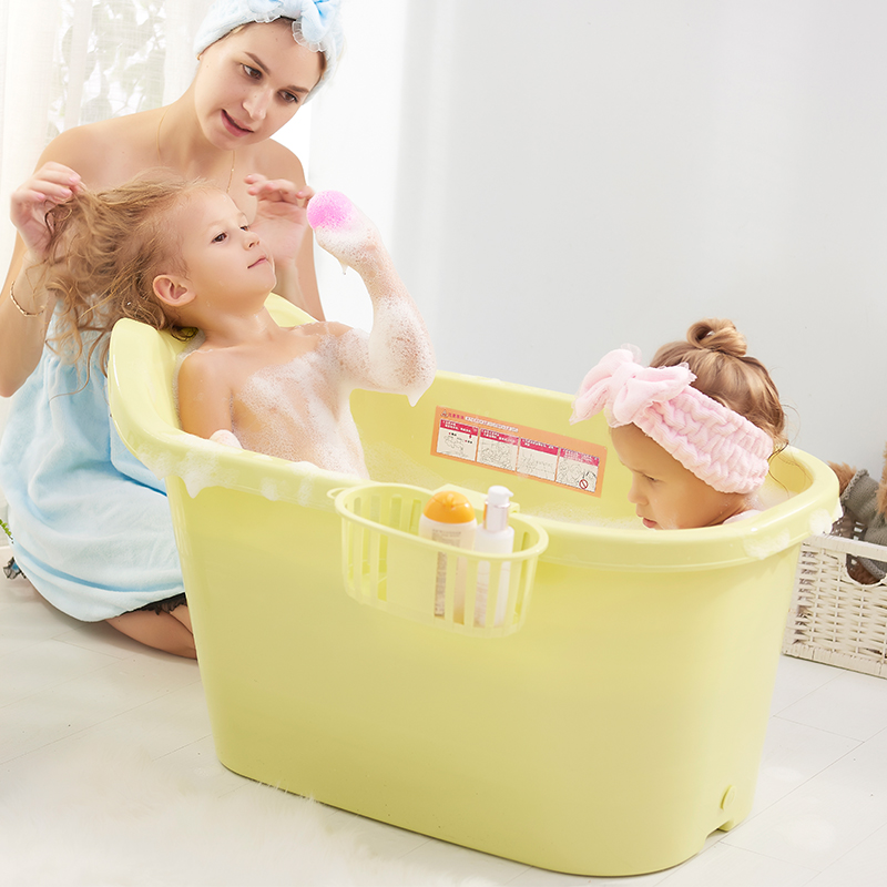 Baby tub thickening children\'s bath barrel household big children\'s ...