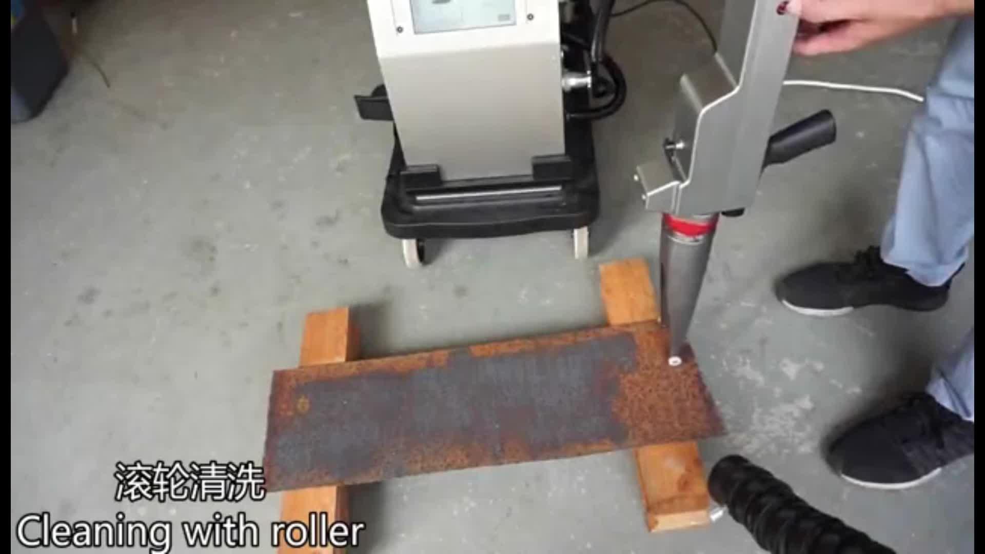 Máquina de Limpeza de Superfície de Metais portátil A Laser De Fibra de Laser de Remoção de Ferrugem
