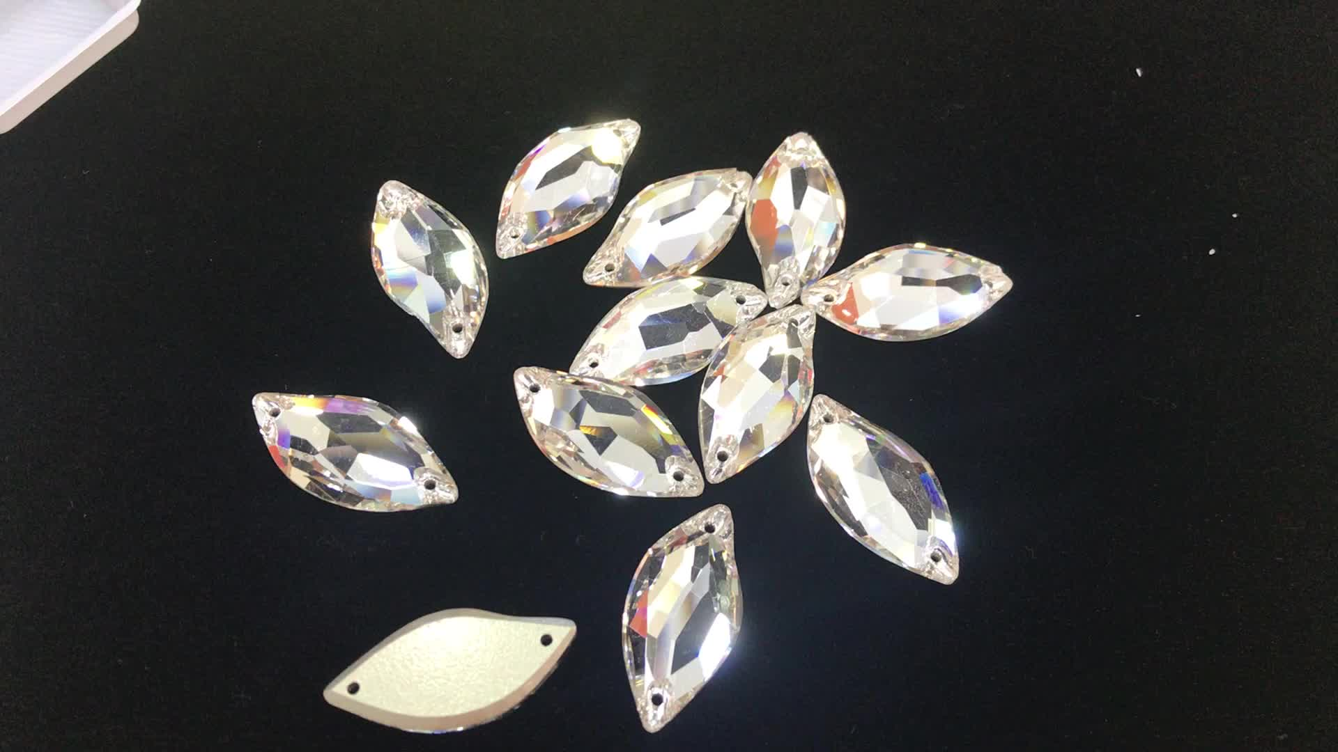 JP strass 2018 fashion teardrop crystal rhinestone glass beads for the clothing decoration