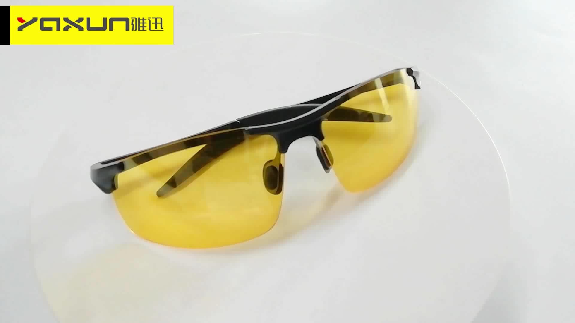 Hot Sale High Quality  Men Anti Blue Light Polarized Driving Fishing Sport Fashion Night Vision sunglasses