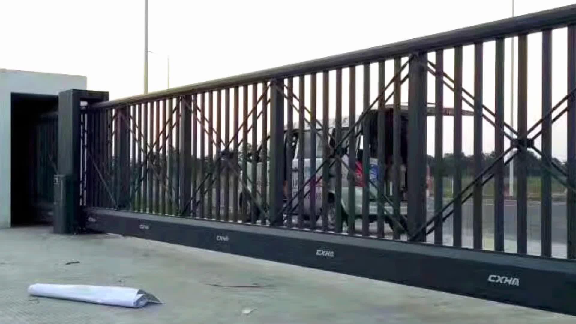 Automatic sliding iron main gate designs