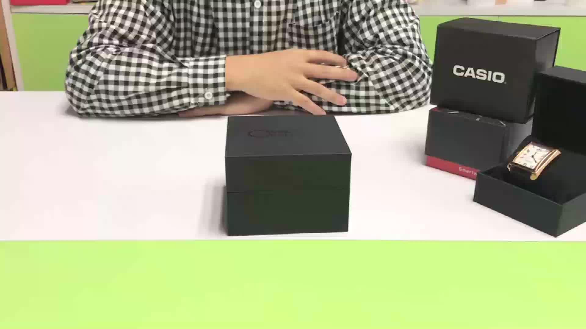Accepteren custom logo custom luxe lege goedkope papier horloge gift dozen verpakking