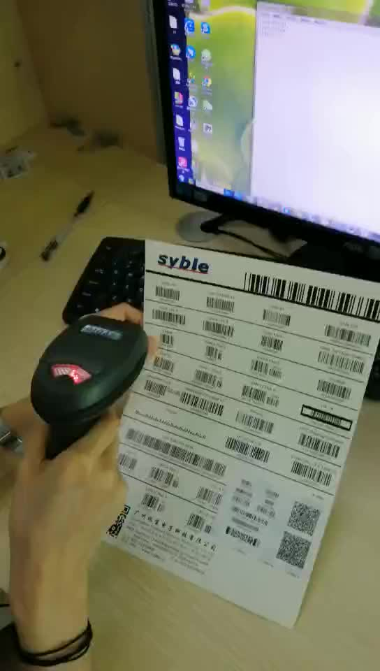 Perfect performance USB visible 1d/2d 3d laser Barcode scanners