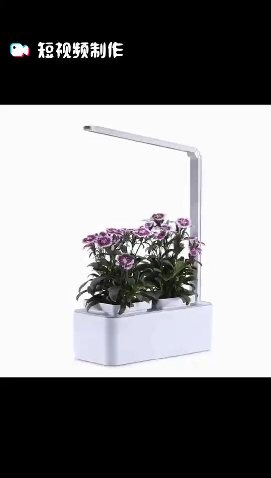 สมาร์ท Hydroponics Indoor planter Garden ชุดเรือนกระจกสมาร์ทสวนดอกไม้หม้อ LED เติบโต