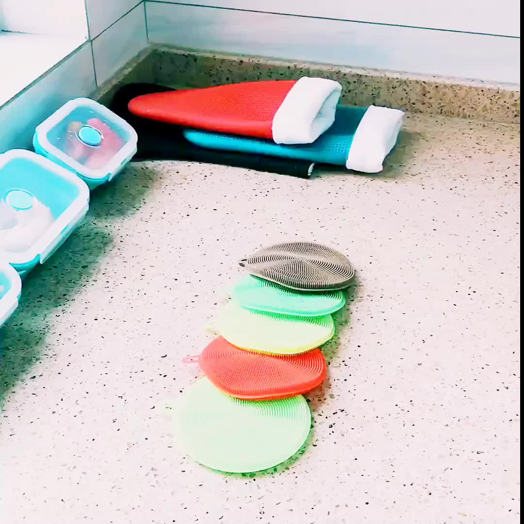 Neue Produkte Silikon Magic Dish Bowl Pot Pan Wash Reinigungsbürste
