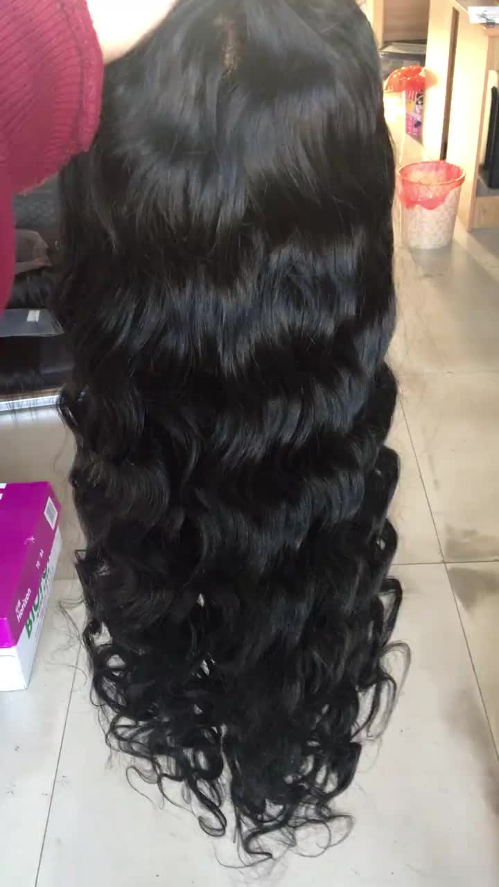 Wigs for Women Full Lace Wig Loose Wave Human Hair Wigs with Baby Hair Pre-plucked Hairline Black Natural Color