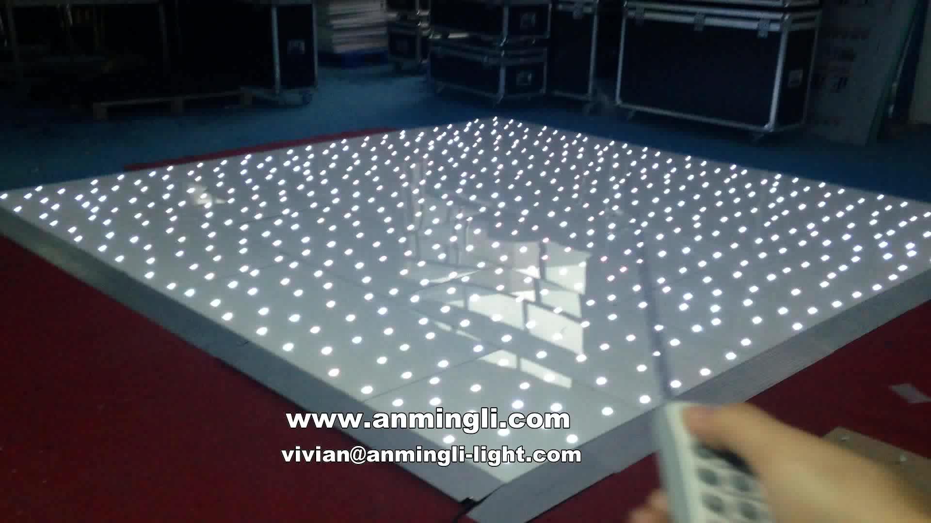 Wholesale Wireless dance floor RGB Portable Twinkling Starlit Dancing Floor Led