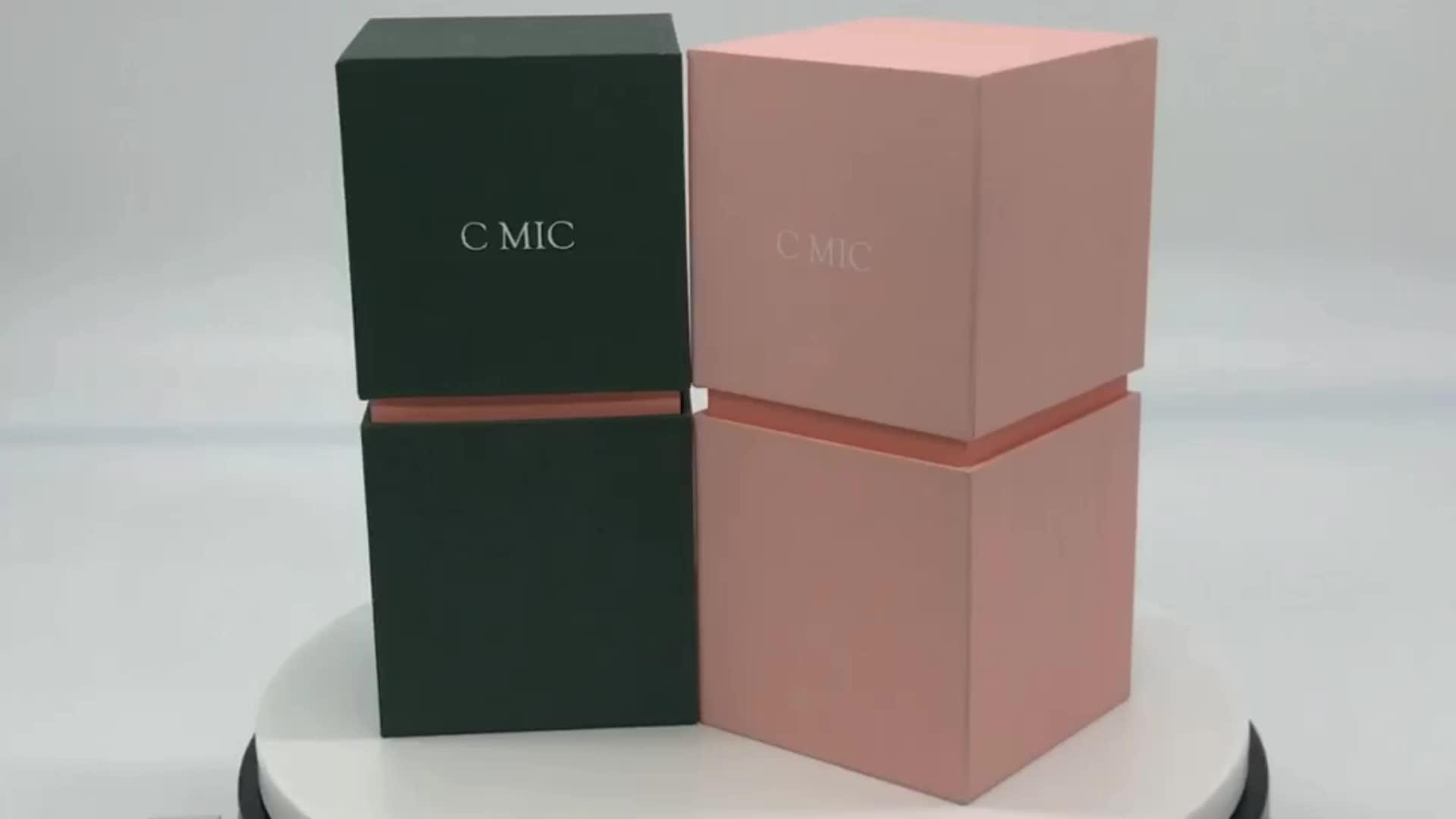 Affordable Custom Luxury Printed Folding Cardboard Paper Packaging Velvet Soap Gift Jewelry Box