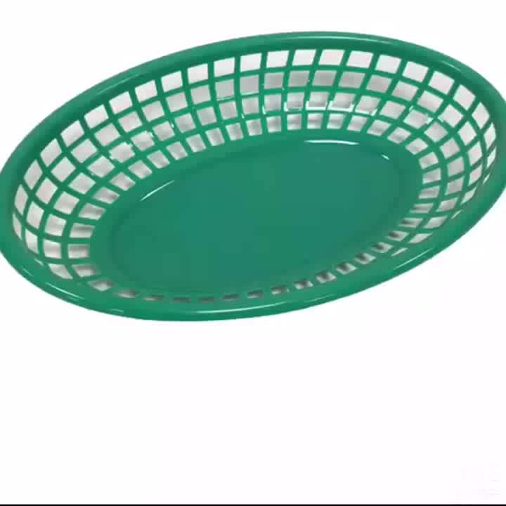 होटल के लिए उच्च गुणवत्ता पर्यावरण के अनुकूल प्लास्टिक फल फास्ट फूड टोकरी रसोई