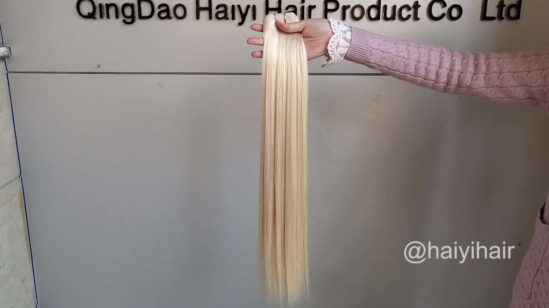 Wholesale Russian Human Hair  Flat Weft Hair Double Drawn Virgin Hair Extensions