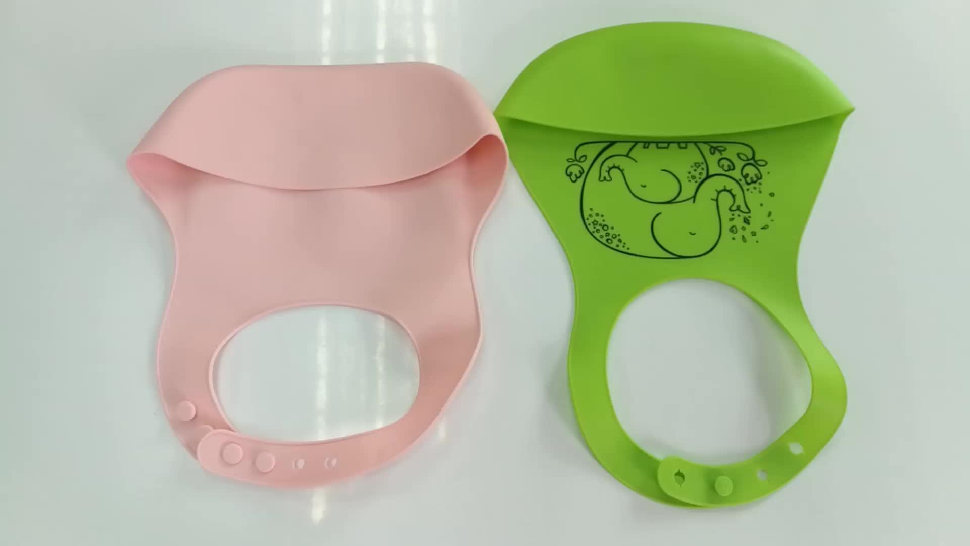 Collapsible Food grade Baby Silicone Feeding Bib