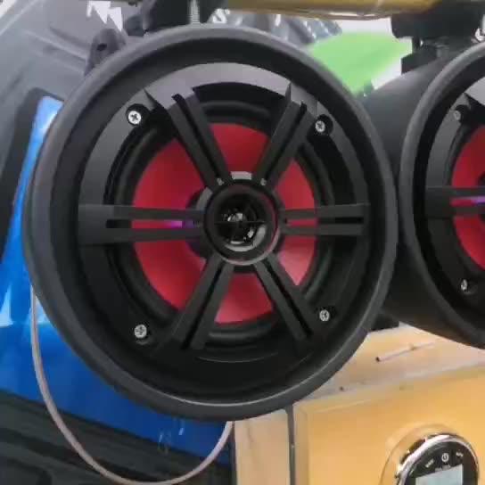 IPX6 Full Range 2-Way 6.5 Inch 200 Watt Marine Grade Off-Road Stereo Speakers Tower Speakers for ATV, UTV, Jetski, Boat  H-6108