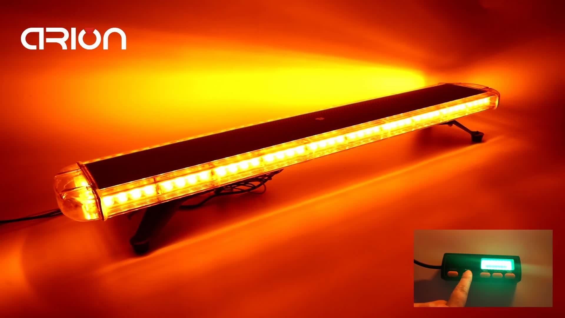 "51 Inch Niedrigen Profil Dach Montieren Fahrzeug Lkw Strobe LED Licht Bar 12V 24V DC LED Lichtbalken 96 LED 1,3 M 51"""