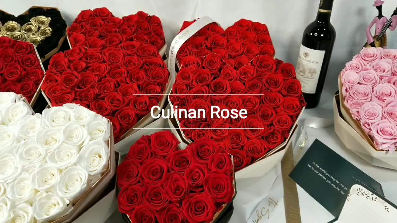 Großhandel neue stil wunderschöne konservierte blume rosen in geschenk box Valentinstag