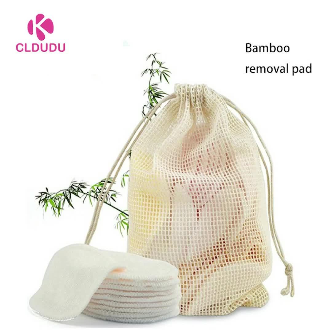Lage prijs wasbaar make-up remover pad herbruikbare bamboe katoen pads