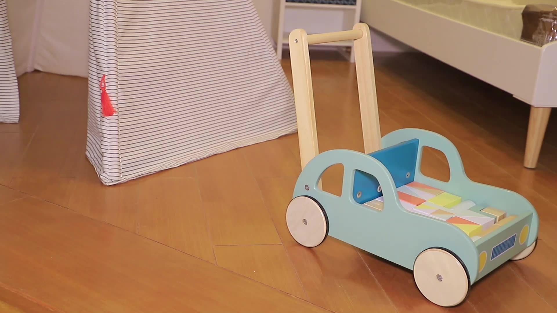 2020 hohe qualität kinderwagen holz fahrt modell roll lernen träger baby holz walker