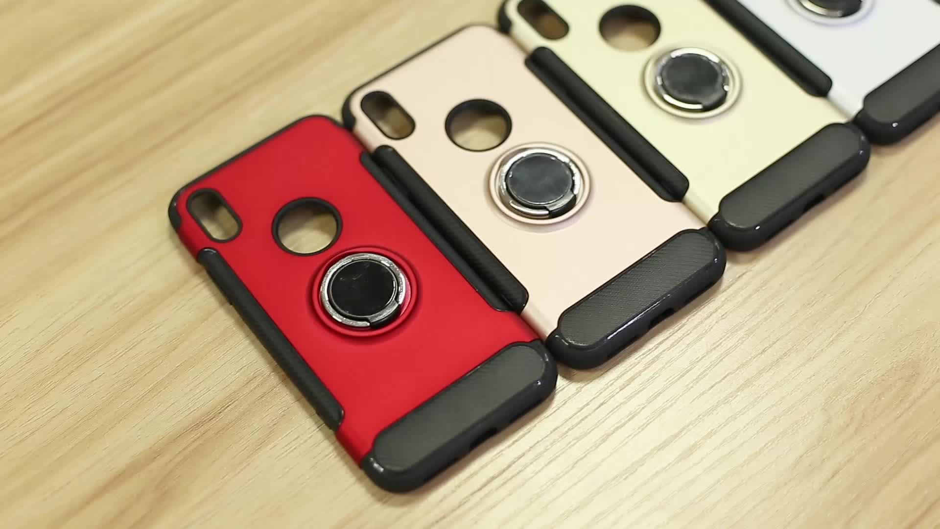2019 Finger ring holder hard magnetic Silicone phone case for Samsung Galaxy Note9 case with ring phone cases