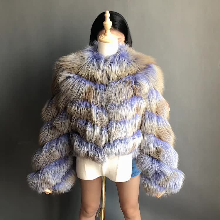 New Winter Coat Jacket Women  Fox Fur Coat with Hood Fashion Short Style  Fur Coat for Lady