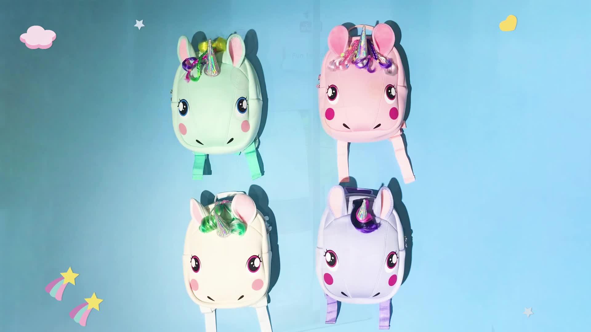 Rucksack unicorn waterproof backpack school back pack, mochilas mini travelling backpack bag, tas girls bagpack hiking backpack