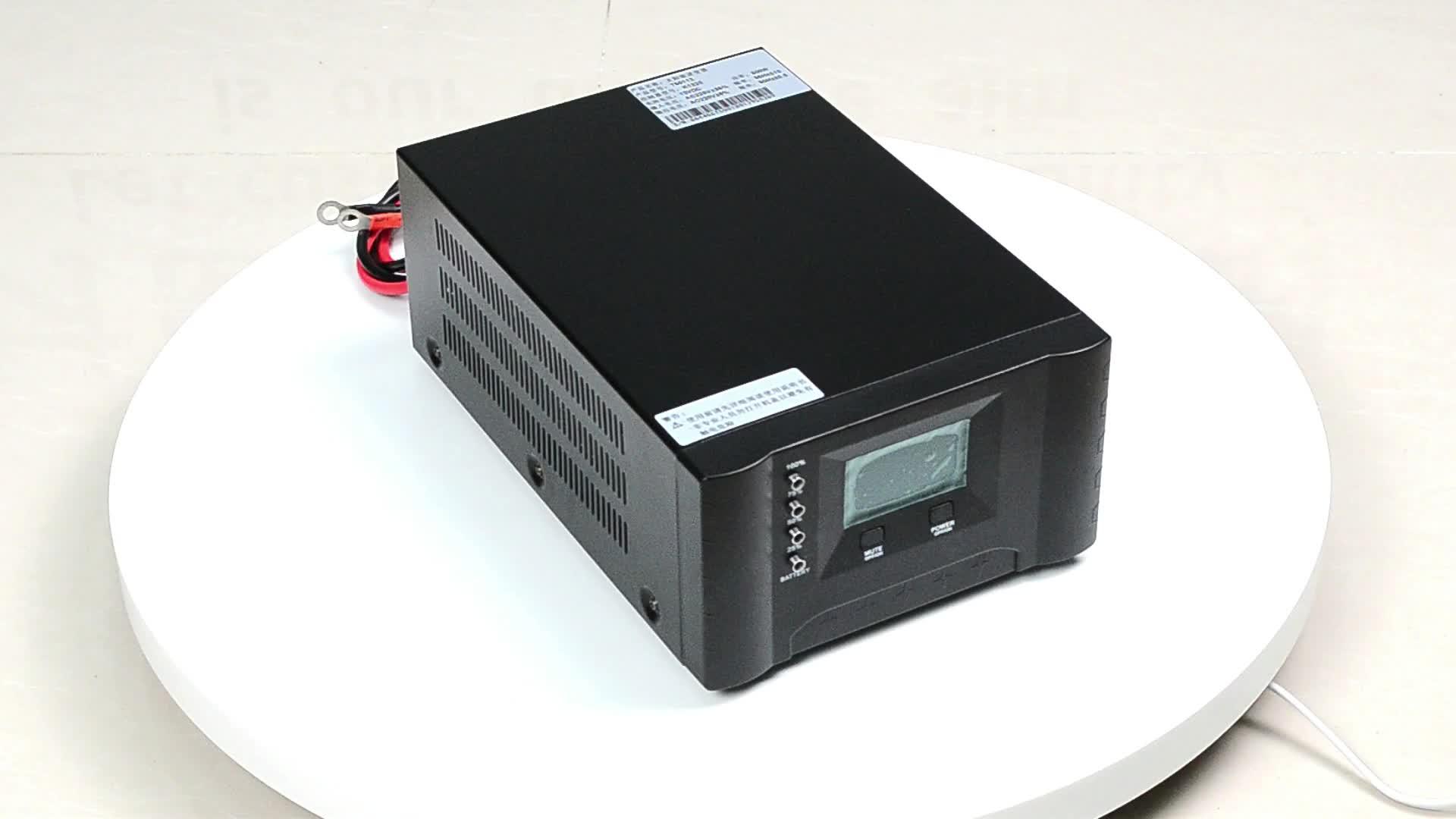 XD Intelligente Mini Wiederaufladbare Inverter 350W 500W 700W 12VDC 24VDC Haushalt inverter mit ladegerät Von China lieferant