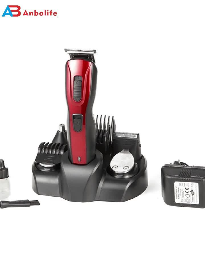 Anbolife 5in1 hair trimmer set promotional gift men electric hair clipper men  grooming kit nose & beard hair trimmer shaver